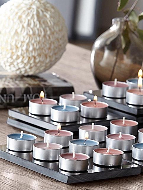 Kitchen Love 50 Adet Renkli Tea Light Mum Renkli